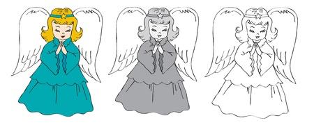 Christmas angels Stock Vector - 20284501