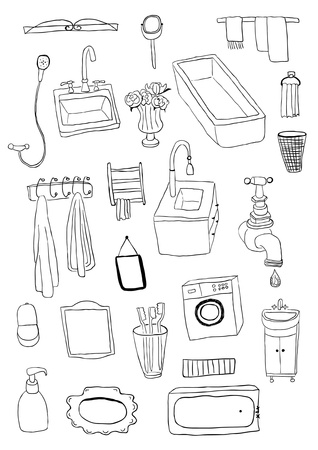 Bathroom objects Stock Vector - 20284551