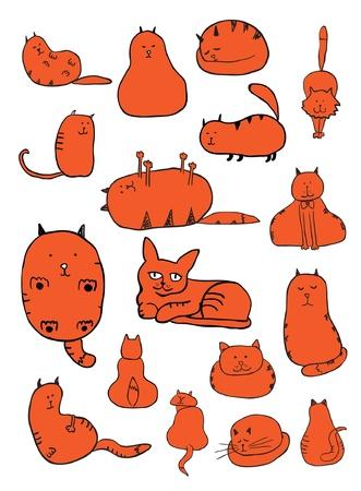 orange cat: Cat Sketches