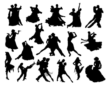 Dance silhouettes Stock Vector - 20284567