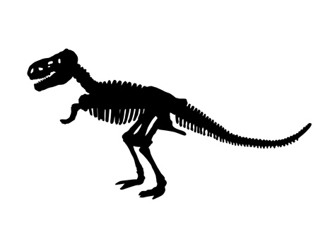 tyrant: Dinosaur skeleton silhouette Illustration