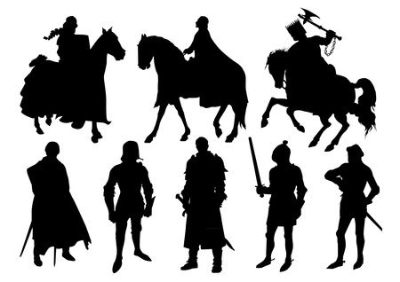 silhouette soldat: Chevalier silhouettes