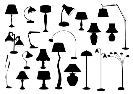 Lamps Silhouette Stock Vector - 20284492