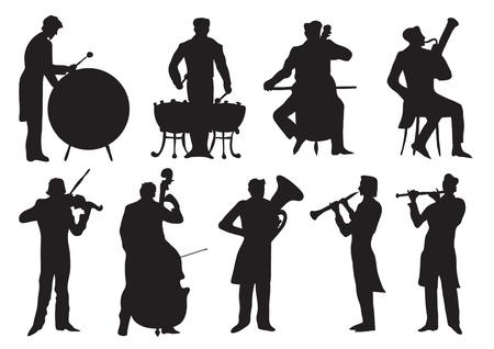 Klassieke musici Stock Illustratie