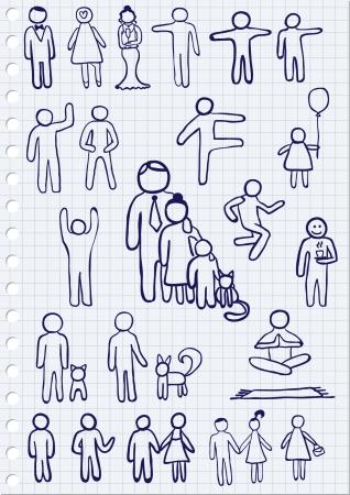 cat suit: People Signs Illustration