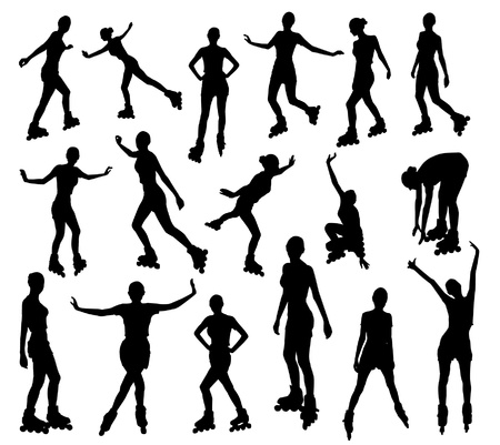 roller: Silhouettes of roller girl