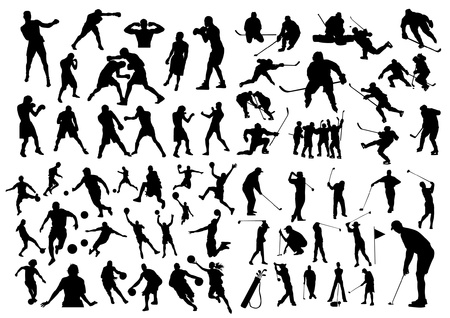 Set of sport silhouettes Stock Vector - 20284541