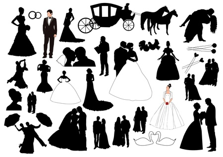 Wedding figures Vector