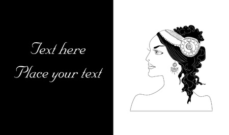poetic: Woman Portrait Illustration