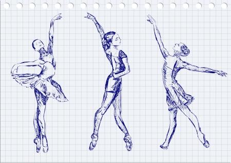 Ballet dancers Stock Vector - 20674645