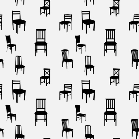 Seamless Chairs Pattern 向量圖像
