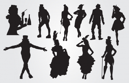 cancan: People silhouettes