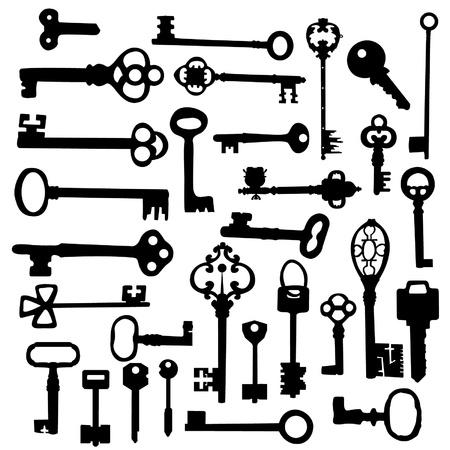 skeleton key: Keys Silhouettes