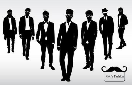 omini bianchi: Uomo di moda Vettoriali
