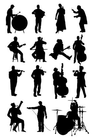 Muzycy Ilustracje wektorowe