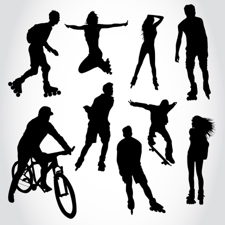 dexterity: Riding people silhouettes