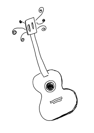 Hand drawn guitar Stock Vector - 21931611