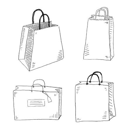 hand cart: Shopping bags
