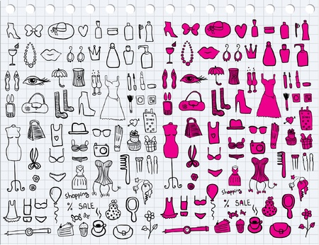 fetishes: Woman Accessories Illustration