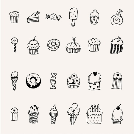 candy floss: Sweets Illustration