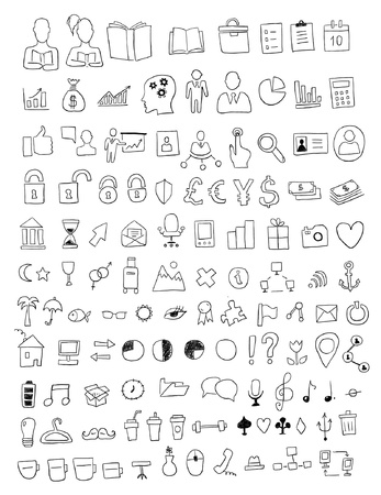 moon chair: Set of various icons