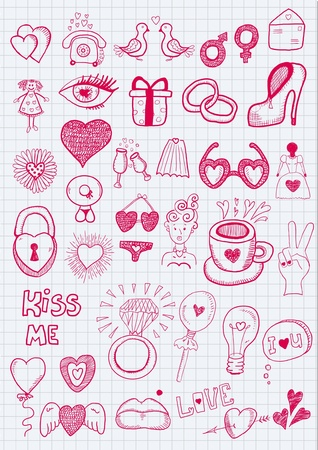 Girl objects Vector