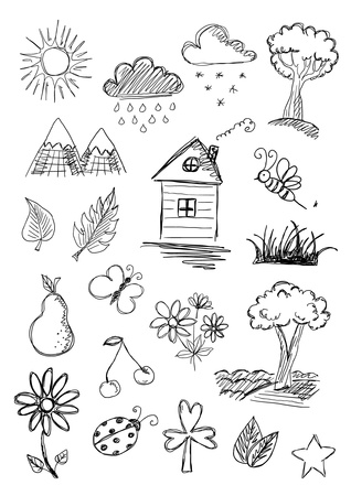 Nature objects Illustration