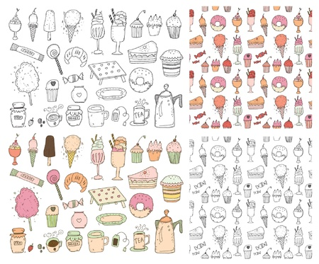 candy floss: Set of sweets