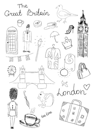 London Objects Vector