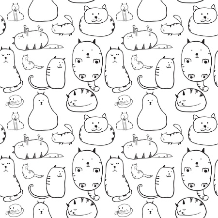 lazy: Cats  Seamless texture