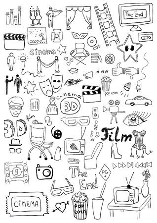film slate: Cinema signs Illustration