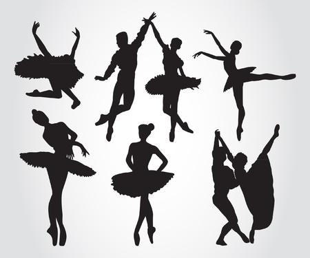 Ballet dansers Stock Illustratie