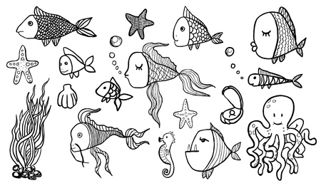 Fish Sketches Stock Vector - 22260547
