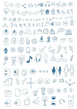 Hand Drawn Symbols Vector