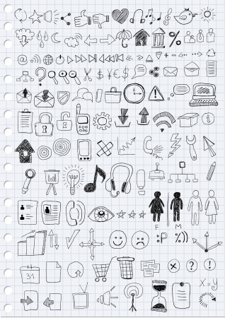 hand stop: Hand-drawn Symbols