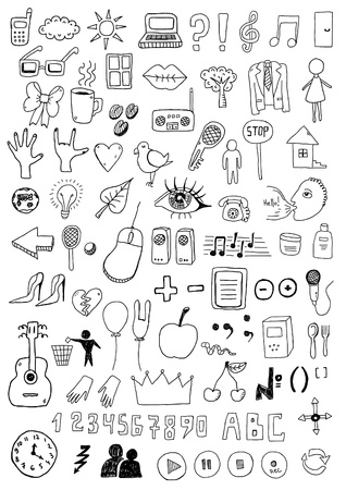 Collection of signs and symbols Vector