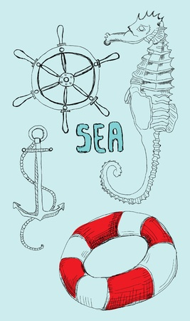 Sea Objects Vector