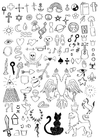 Set of various symbols Vector
