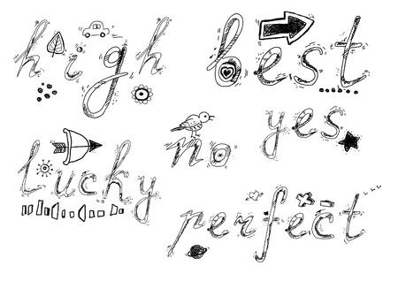 Sketchy words Vector