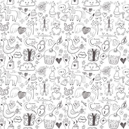 girlish: Girlish seamless pattern