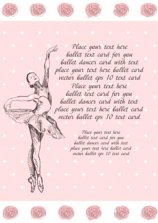 Ballet card Vector