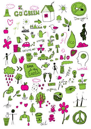 green footprint: Eco signs