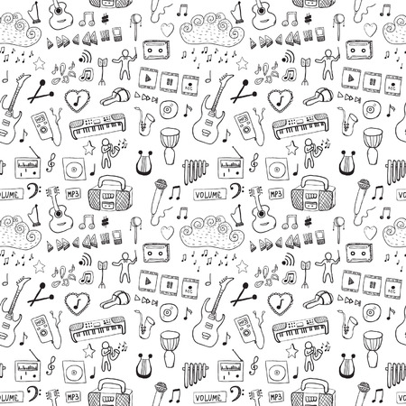 Music symbols  Seamless pattern Vector