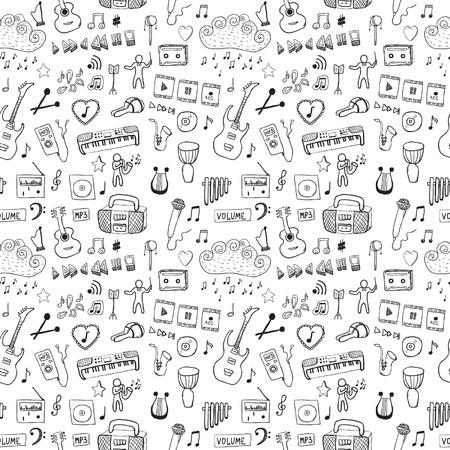 Music symbols  Seamless pattern Vettoriali