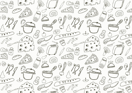 Seamless Food Icons Vector
