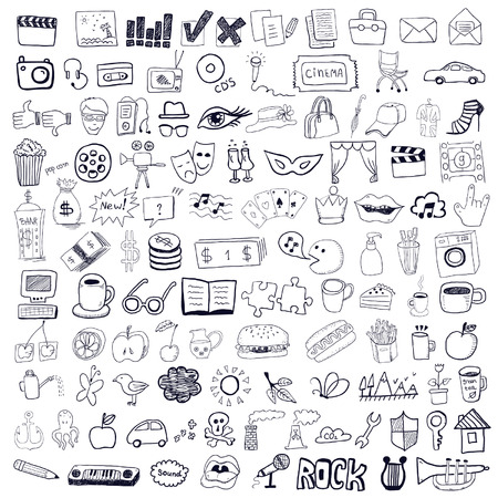 Set of hand drawn symbols Vector