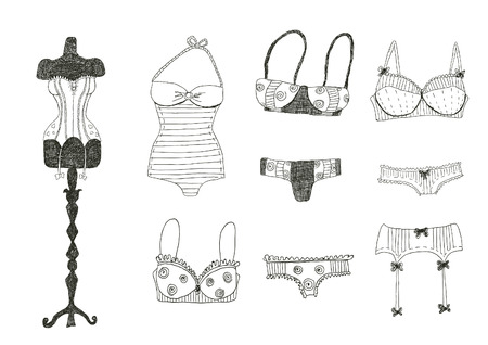 Lingerie set Vector