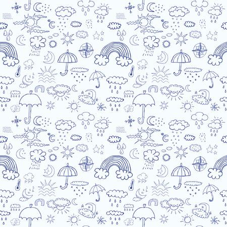 weather symbols: Weather symbols seamless pattern