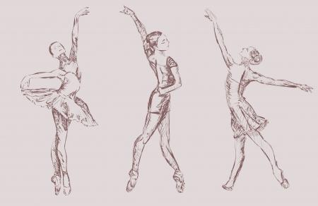 Ballet dancers Vettoriali