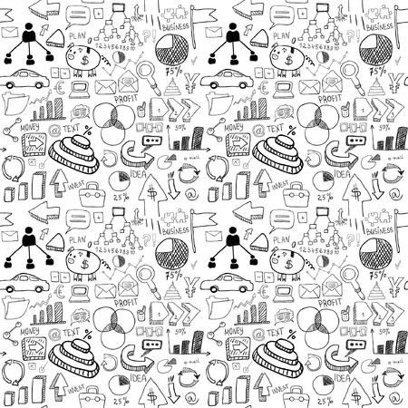 Business icons seamless pattern Vector